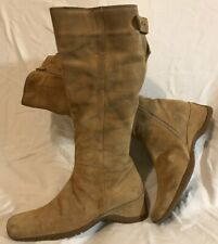 George Beige Mid Calf Suede Boots Size 6 (461Q)
