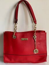 NEW! ANNE KLEIN COAST IS CLEAR FIRE RED SHOPPER SATCHEL TOTE BAG PURSE $85 SALE