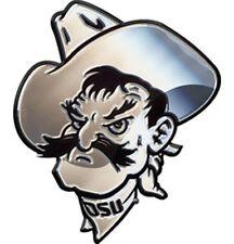 Oklahoma State Cowboys OSU MASCOT Premium Metal Chrome Auto Emblem University