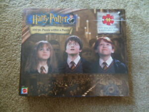 Harry Potter And The Sorcerer's Stone 100 Piece Puzzle - 2001 Mattel - Sealed