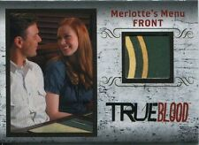 True Blood Archives Relic / Costume Card R3 Merlottes Menu [Front]