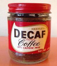 Vintage Nestle Decaf Instant Coffee 1oz. Jar Still SEALED & FILLED!