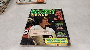 1973 Hockey World NHL WHA Magazine Rick MacLeish