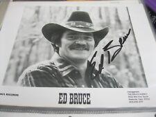 ED BRUCE AUTOGRAPHED SIGNED PHOTO