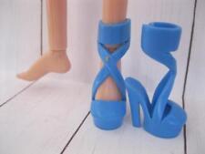 "Shoes fit MOXIE TEENZ 14"" TALL MT Dolls~Blue High Heel Spike OT Dress-Up Sandals"