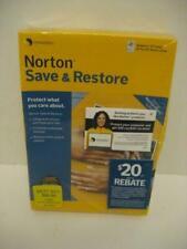 NEW Symantec Norton Save & Restore Full Windows Version SEALED Back-up & RESTORE