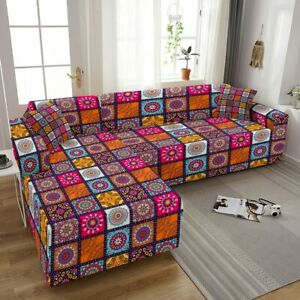 Luxury Sofa Cover For Living Room Stretch Corner Couch Cover L Shape Elastic