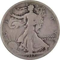 1917 S Reverse Liberty Walking Half Dollar VG Very Good 90% Silver 50c US Coin
