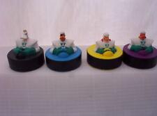 1996 McDonalds Mighty Ducks Pucks MOVIE HOCKEY complete set 4 FIGURES ANAHEIM
