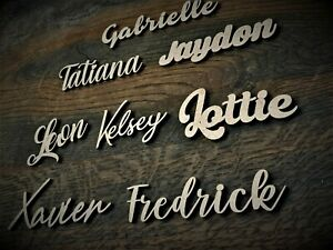 Personalised Wooden Laser Cut Script Names Letters Words MDF Sign Nursery Decor