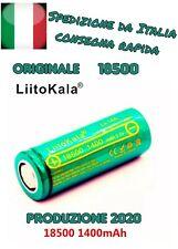 Batteria Pila Litio Ricaricabile LIITOKALA NCR 18500 A 1400mAh Flat Pole Li ion