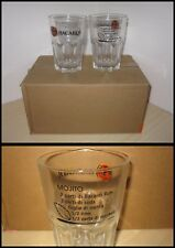BACARDI MOJITO SERVIZIO BAR 6 BICCHIERI in vetro Glass Set Rum Soda Menta