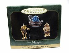 STAR WARS Hallmark Keepsake MAX REBO BAND Set of 3 Ornaments 1999 Jabba's Palace