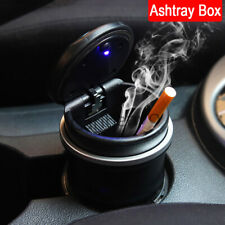 New Car Water Cup Slot LED Light Luxury Cigarette Ashtray Bin Box Storage Can