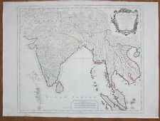 Santini Large Map Asia India Thailand Vienam Indes Orientales - 1779