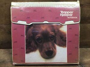 Vintage Mead 1980s Cocker Spaniel Dog Trapper Keeper Notebook 3-Ring Binder