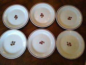 "Alfred Meakin Tea Leaf Royal Ironstone China England 9"" Plates Lot of 6"