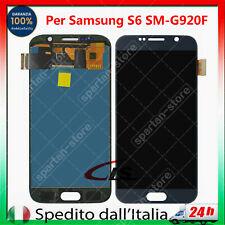 DISPLAY PER SAMSUNG GALAXY S6 SM-G920F LCD SCHERMO VETRO TOUCH SCREEN NERO BLU
