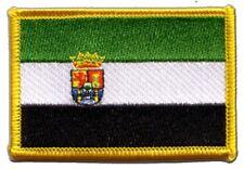 Spanien Extremadura Aufnäher Flaggen Fahnen Patch Aufbügler 8x6cm