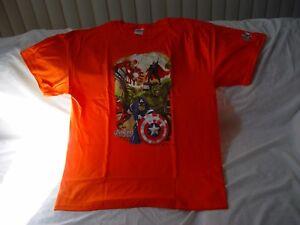 Marvel Avengers Orange T-Shirt Sponsors Hershey's/Reese's Large New