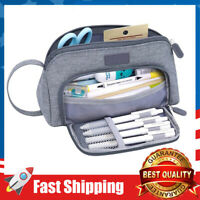 Big Capacity Pencil Case Bag Pen Pouch Holder Stationery Organizer for School