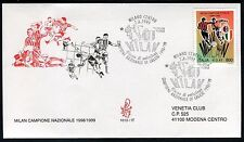 ITALY 1999 MILAN ITALIAN SOCCER CHAMPIONS TEAM/FOOTBALL/PLAYERS/ARMS/FLAG  FDC
