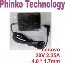20v 2.25a Laptop Power AC Adapter Charger for Lenovo IdeaPad 100s-14ibr 80r9