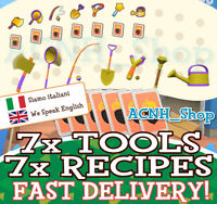 7 x Attrezzi D'Oro - Golden Tools & Recipes AC New Horizons 🚀 FAST DELIVERY! 🚀