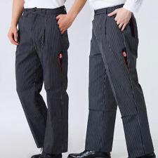 Stylish Restaurant Cafe Waiter Chef Pants Baggy Work Trousers Uniform Unisex