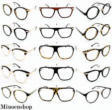 Super Vintage Clear Lens Glasses Frames Geek Nerd Men Womens