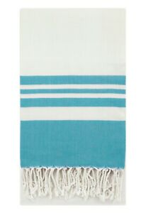 Eshma Mardini Turkish Bamboo Towel Beach Pool Cover Up Picnic Bath Spa  (Teal)