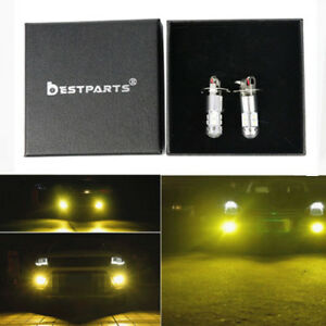 2x NEW H3 100W High Power LED 3000K Yellow Fog Light Driving Bulb DRL US