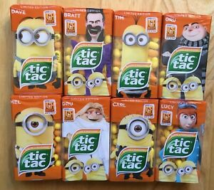 2017 TIC TAC 8x49g EUROPEAN SET MINIONS BANANA TANGERINE LIMITED GERMAN EDITION