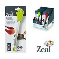 Zeal Silicone Non-Scratch Kitchen Tongs with Stainless Steel Handles Cook 20cm