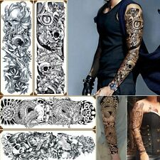 8a2f685f3 4 Sheets Temporary Tattoos Body Arm Tattoo Sticker Long Sleeve Fake  Waterproof