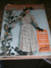 Femmes d'aujourd'hui N° 366 1952 Mode vintage  patrons Couture Broderie Robe