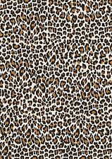 "GORGEOUS ""LEOPARD PRINT""  PRINTED CANVAS FABRIC SHEET.HAIR BOWS E.T.C"