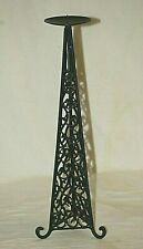Wrought Iron Twisted Metal Triangle Candlestick Candle Holder Mantel Centerpiece