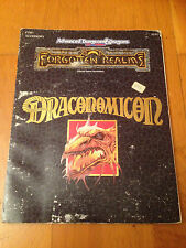 AD&D 2 - DRACONOMICON VO - TSR Forgotten Realms Jeu de Rôle JdR RPG