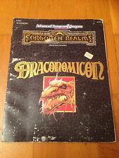 AD&D 2 - DRACONOMICON VO - TSR Forgotten Realms Jeu de Rôle JdR RPG