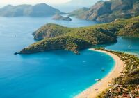 Oludeniz Lagoon Turkey Poster Size A4 / A3 Beach Ocean Nature Poster Gift #12635