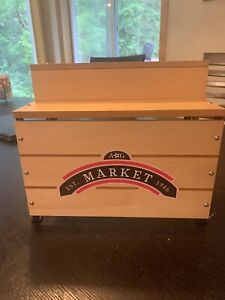 American Girl Doll Truly Me City Market Two Tiered Wooden Metal Stand ONLY