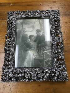EDGAR BEREBI Vintage Crystal Jeweled Frame Ornate