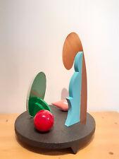 """Lucio DEL PEZZO - """"Centrotavola"""", 1990 - Multiplo in legno dipinto e metallo"""