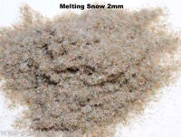 WWS 2mm Melting Snow Ice Flock Static Grass Hornby Peco Railway Scenery