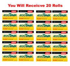 20 Rolls Kodak T-MAX 400 35mm Film TMY 135-36 B&W Black & White Negative 8/2020