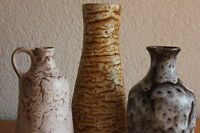 Konvolut Keramik Germany KTU Unterstab 60er 70er 3 Vasen Studiokeramik