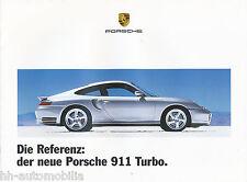 Porsche 911 Turbo Prospekt 1999 Autoprospekt Sportwagen Auto PKWs car brochure