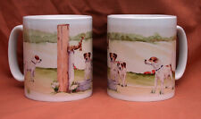 PARSON RUSSELL TERRIER DOG MUG OFF TO THE DOG SHOW WATERCOLOUR PRINT SANDRA COEN