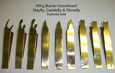 Wing Burners - Brass 9 piece Set - Fly Tying Mayfly Caddis Stonefly